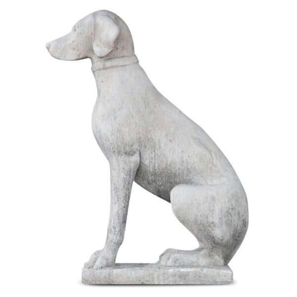Betonnen dier Zittende hond 72 cm 1.012